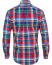 Polo Ralph Lauren Slim Fit Stretch Oxford Check Shirt Red Blue