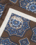Eton Medallion Print Silk Pocket Square Brown