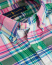 Polo Ralph Lauren Slim Fit Oxford Check Shirt Green/Pink