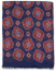 Eton Modal/Cotton Printed Medallion Scarf Navy
