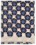 Eton Modal/Cotton Printed Flower Scarf Blue