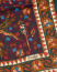 Drake's Wool/Silk Birds and Flowers Printed Scarf Burgundy
