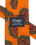 Drake's Silk Printed Large Medallion Tie 8 cm Orange