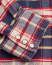 RRL Buffalo Western Flannel Shirt Navy/Red Plaid