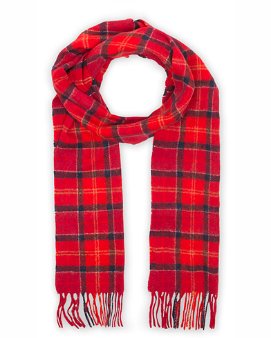 Barbour Lifestyle Tartan Lambswool Scarf Cardinal Red i gruppen Accessoarer / Halsdukar hos Care of Carl (10005310)