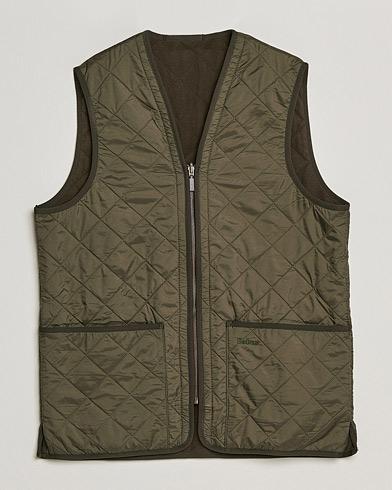 Barbour Lifestyle Quilt Waistcoat/Zip-In Liner Olive
