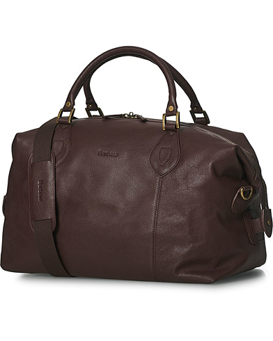 Barbour Lifestyle Leather Medium Travel Explorer Brown  i gruppen Accessoarer / Väskor / Weekendbags hos Care of Carl (10050310)