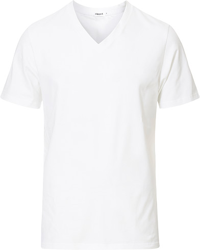 Filippa K Soft Lycra V-Neck Tee White i gruppen Kläder / T-Shirts hos Care of Carl (10226011r)