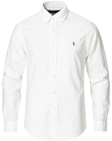 Polo Ralph Lauren Slim Fit Shirt Oxford White i gruppen Kläder / Skjortor / Casual / Oxfordskjortor hos Care of Carl (10287811r)