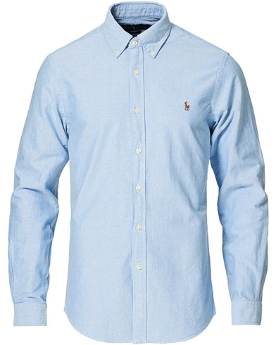 Polo Ralph Lauren Slim Fit Shirt Oxford Blue i gruppen Kläder / Skjortor / Casual / Oxfordskjortor hos Care of Carl (10287911r)