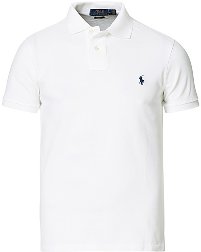 Polo Ralph Lauren Slim Fit Polo White i gruppen Kläder / Pikéer hos Care of Carl (10288711r)
