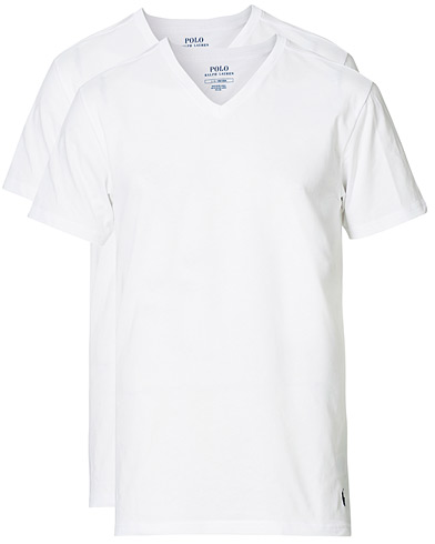 Polo Ralph Lauren 2-Pack T-Shirt V-Neck White i gruppen Kläder / T-Shirts hos Care of Carl (10296211r)
