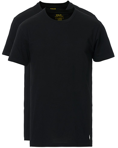 Polo Ralph Lauren 2-Pack T-Shirt Crew Neck Black i gruppen Kläder / T-Shirts / Kortärmade t-shirts hos Care of Carl (10296311r)