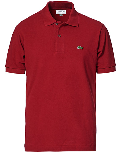 Lacoste Original Polo Piké Bordeaux i gruppen Kläder / Pikéer hos Care of Carl (10299011r)