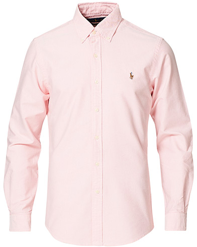Polo Ralph Lauren Slim Fit Shirt Oxford Pink i gruppen Tidlösa klassiker / Buttondown-skjortor hos Care of Carl (10339511r)