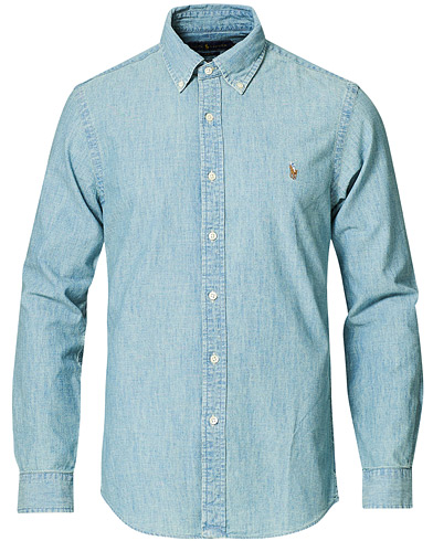 Polo Ralph Lauren Slim Fit Chambray Shirt Washed i gruppen Kläder / Skjortor / Casual / Jeansskjortor hos Care of Carl (10349511r)