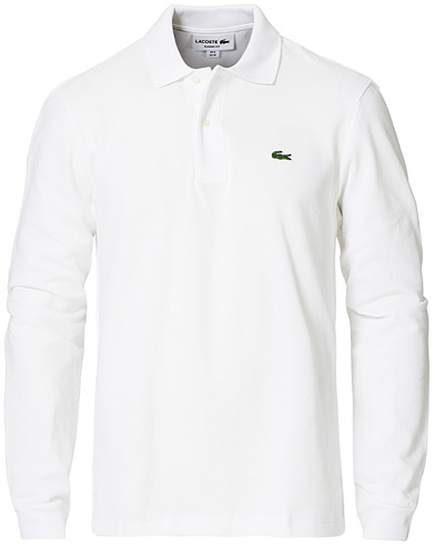 Lacoste Long Sleeve Original Polo White i gruppen Kläder / Pikéer hos Care of Carl (10513911r)