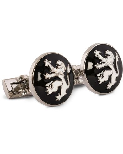 Skultuna Cuff Links The Lion Silver/Black/White  i gruppen Accessoarer / Manschettknappar hos Care of Carl (10528510)