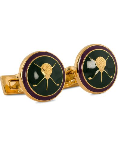 Skultuna Cuff Links Golf Gold/Green  i gruppen Accessoarer / Manschettknappar hos Care of Carl (10529410)