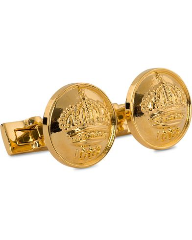 Skultuna Cuff Links The Crown Gold/Glossy Gold  i gruppen Accessoarer / Manschettknappar hos Care of Carl (10532110)