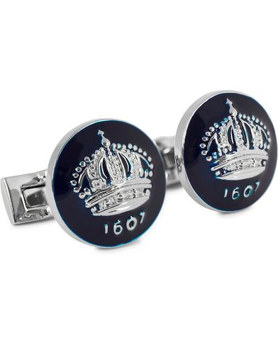 Skultuna Cuff Links The Crown Silver/Royal Blue  i gruppen Accessoarer / Manschettknappar hos Care of Carl (10532910)
