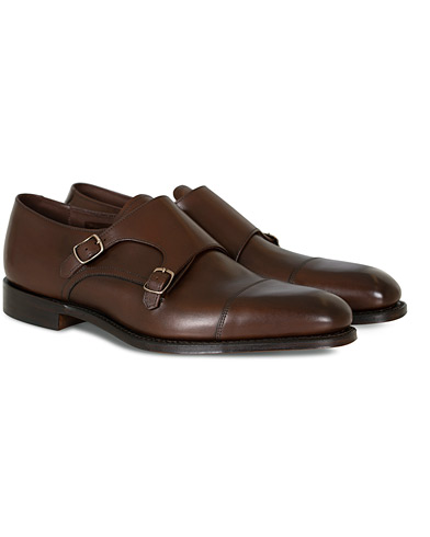 Loake 1880 Cannon Monkstrap Dark Brown Burnished Calf i gruppen Skor / Munkskor hos Care of Carl (10630011r)