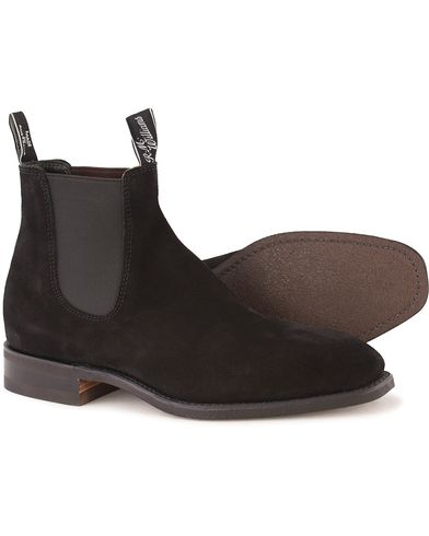 R.M.Williams Blaxland G Boot Suede Black UK6 - EU39