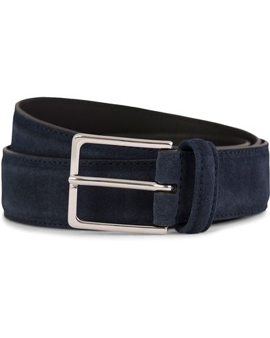 Anderson's Suede/Leather Belt 3,5 cm Navy