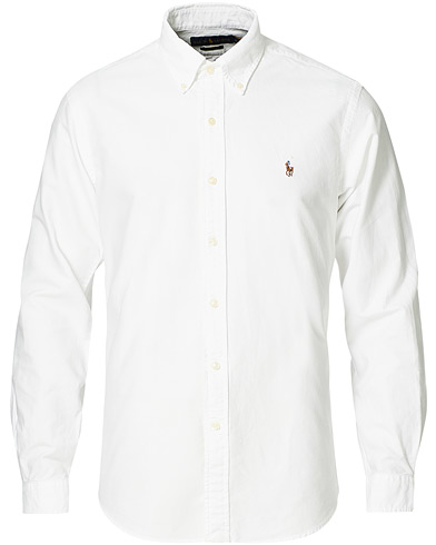 Polo Ralph Lauren Core Fit Shirt Oxford White i gruppen Samtida klassiker / Buttondown-skjortor hos Care of Carl (10797111r)