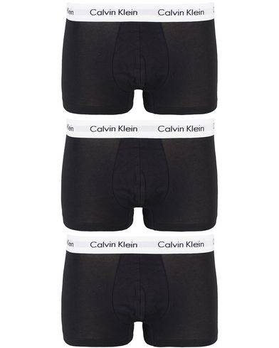 Calvin Klein Cotton Stretch Trunk 3-pack Black i gruppen Kläder / Underkläder / Kalsonger / Boxershorts hos Care of Carl (10990211r)