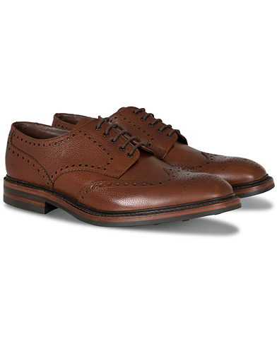Loake 1880 Badminton Brogue Dark Brown Grain i gruppen Skor / Brogues hos Care of Carl (10995611r)