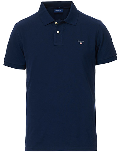 GANT The Original Polo Evening Blue i gruppen Kläder / Pikéer / Kortärmade pikéer hos Care of Carl (11138611r)