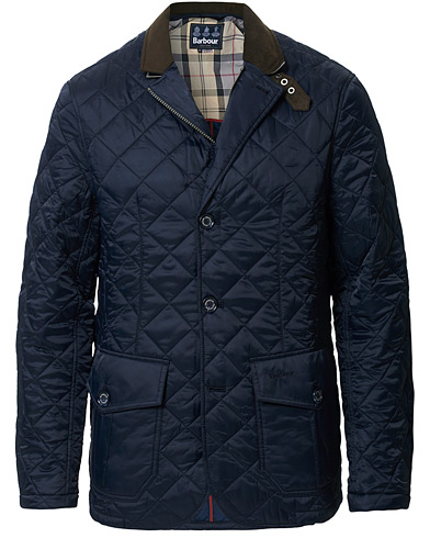 Barbour Lifestyle Dress Tartan Quilted Sander Jacket Navy i gruppen Kläder / Jackor / Quiltade jackor hos Care of Carl (11210211r)