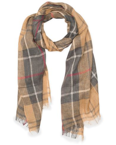 Barbour Tartan Linen Scarf Dress Tartan  i gruppen Accessoarer / Scarves hos Care of Carl (11211110)