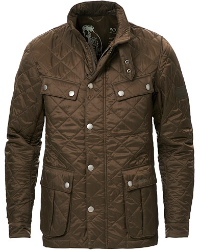 Barbour International Ariel Quilted Jacket Olive i gruppen Kläder / Jackor / Quiltade jackor hos Care of Carl (11211511r)