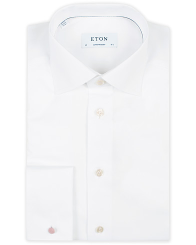 Eton Contemporary Fit Shirt Double Cuff White i gruppen Kläder / Skjortor / Formella / Formella skjortor hos Care of Carl (11271911r)