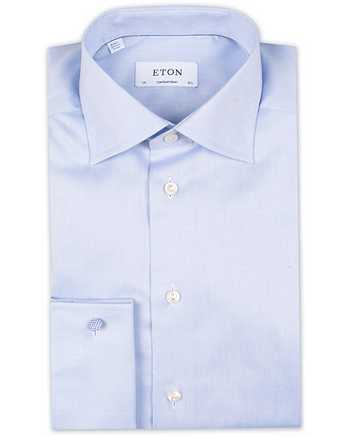 Eton Contemporary Fit Shirt Double Cuff Blue i gruppen Kläder / Skjortor / Formella / Businesskjortor hos Care of Carl (11272011r)