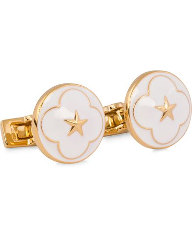 Skultuna Cuff Links Polar Star White  i gruppen Accessoarer / Manschettknappar hos Care of Carl (11629910)