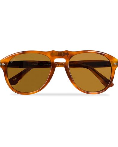 Persol PO0649 Sunglasses Light Havana/Crystal Brown  i gruppen Accessoarer / Solglasögon / D-formade solglasögon hos Care of Carl (11951410)