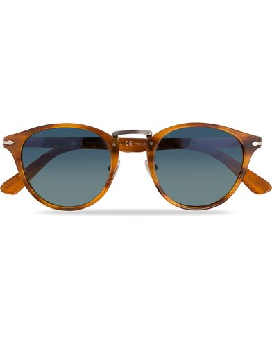 Persol PO3108S Polarized Sunglasses Striped Brown/Gradient Blue  i gruppen Accessoarer / Solglasögon hos Care of Carl (11964210)