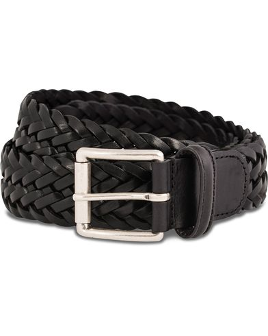 Anderson's Braided Leather Belt 3,5 cm Black