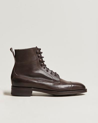 Edward Green Galway Grained Boot Dark Brown Utah Calf