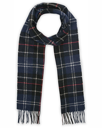 Barbour Lifestyle Tartan Lambswool Scarf Navy/Red  i gruppen Accessoarer / Halsdukar hos Care of Carl (12018210)