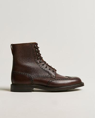 Crockett & Jones Islay Boot Dark Brown Grained Calf