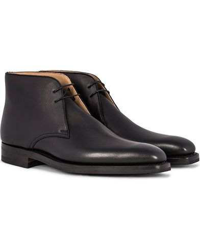 Crockett & Jones Tetbury Chukka Black Calf i gruppen Skor / Kängor / Chukka boots hos Care of Carl (12050411r)