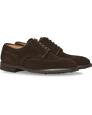 Crockett & Jones Swansea Brogue Dark Brown Suede