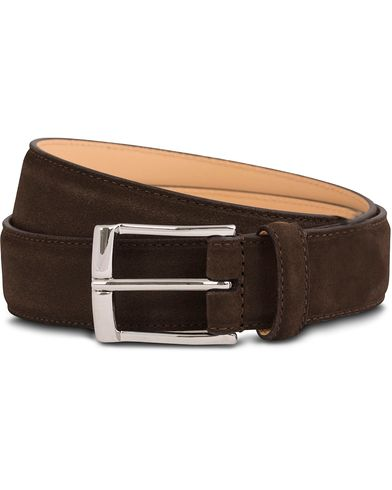 Crockett & Jones Belt 3,2 cm Dark Brown Suede