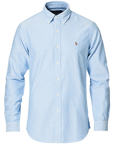 Polo Ralph Lauren Custom Fit Shirt Oxford Blue i gruppen Kläder / Skjortor / Casual / Oxfordskjortor hos Care of Carl (12144811r)