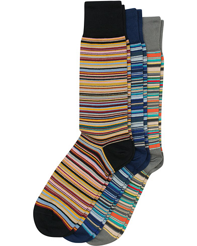 Paul Smith 3-Pack Classic Sock Multistripe  i gruppen Kläder / Underkläder / Strumpor hos Care of Carl (12208510)