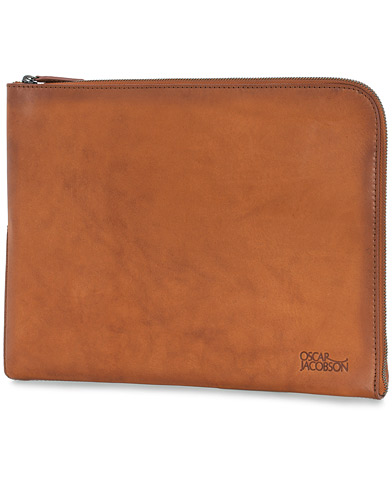 Oscar Jacobson Leather Document Case Brown  i gruppen Accessoarer / Väskor / Portfolios hos Care of Carl (12216010)